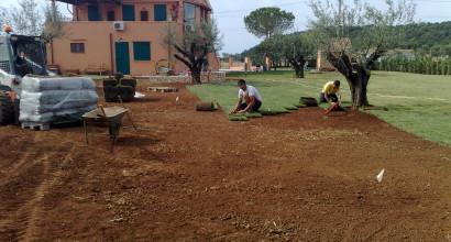 Impianto d' irrigazione e verde casale privato
